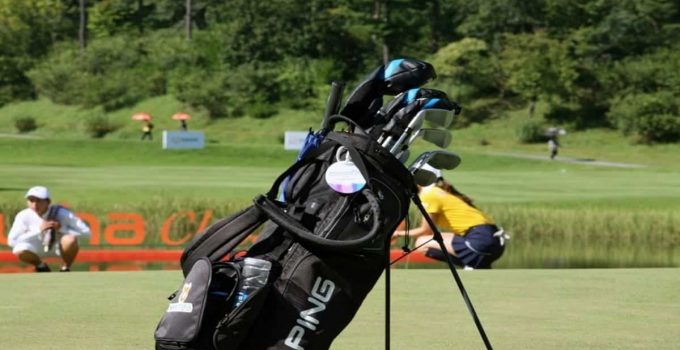 Black Ping Golf Cart Bag
