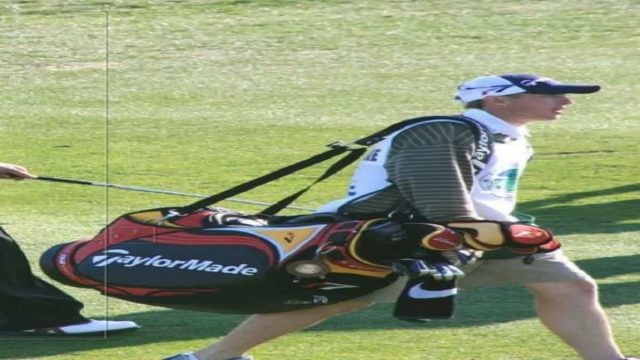 Caddy with Taylormade Supreme Cart Bag