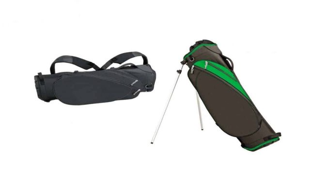 Golf bags of distinct colors and quality