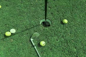Golf Hole Close-up
