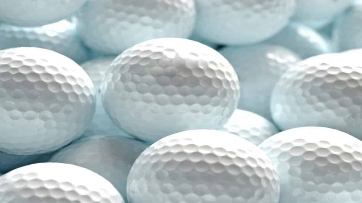 Close Up for White Golf Balls