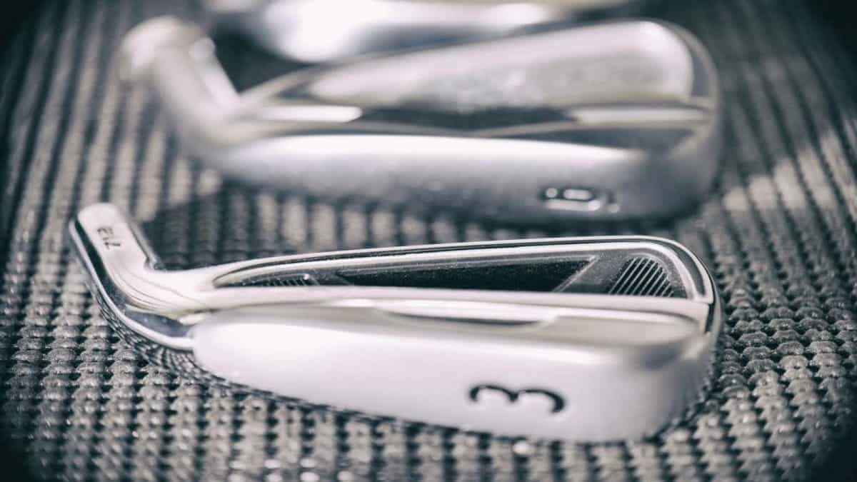 golf irons close-up