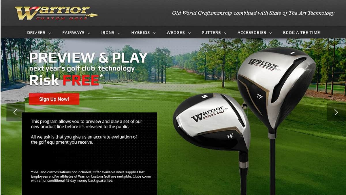 Warrior golf club price