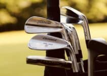 Different golf clubs.