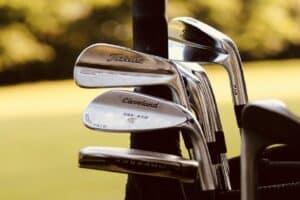 Different golf clubs.