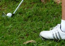 Close up of golf shoes