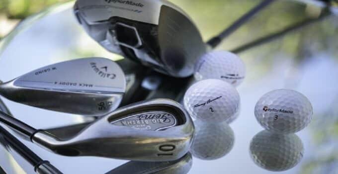Various golf equipment.